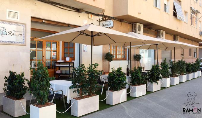 nueva terraza en restaurante Ramón